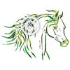 Wind Runner - Arab horse head clip art set