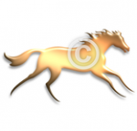 Run for Fun - Running horse clip art set
