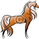 Elegant Stallion - Arabian horse clip art set