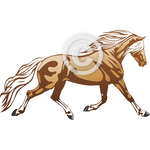 Haflinger Horse - Clip Art and Background Set