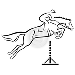 Jumper with Rider - Jumping horse clip art set