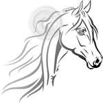 Looking Lovely - Arabian horse head clip art set