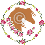 Sweet Roses - Arabian horse head clip art set