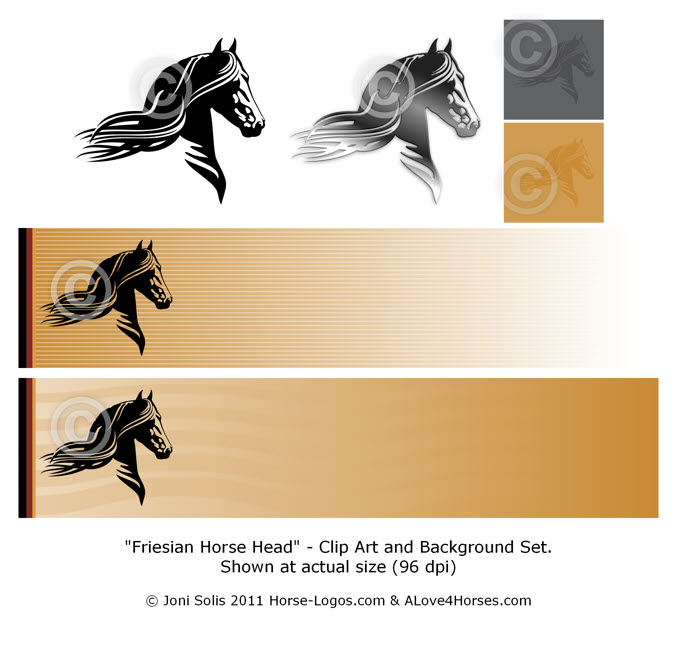 Friesian Horse Clip Art - Click Image to Close