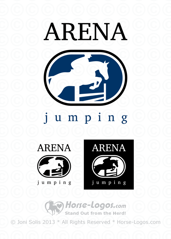 Jumping horse logo - Arena Jumping - Click Image to Close