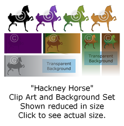 Hackney Horse - Clip Art and Background Set